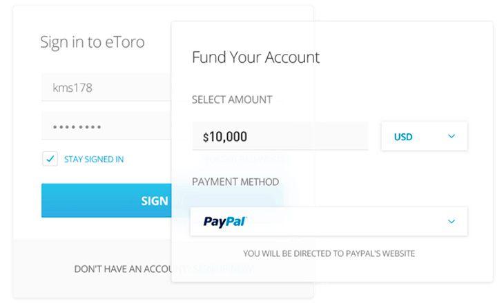 Funding eToro account and withdrawing profits