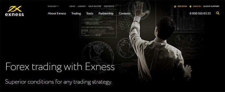 Exness Forex trading