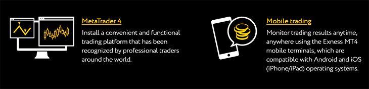 Exness trading platforms