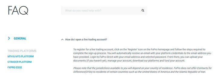 FxPro FAQs