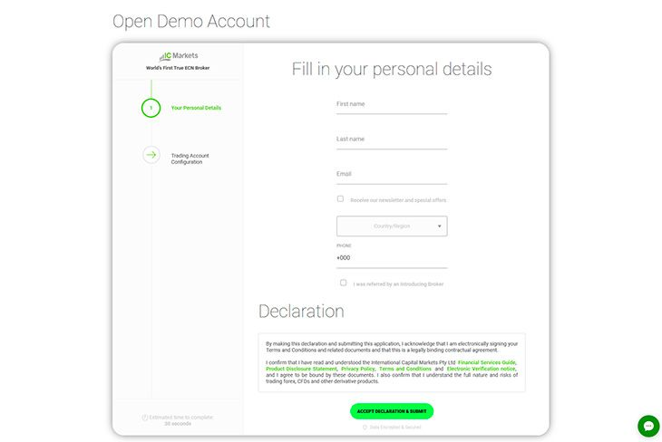 How to open demo account