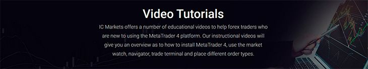 IC Markets video tutorials