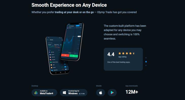 OlympTrade mobile app