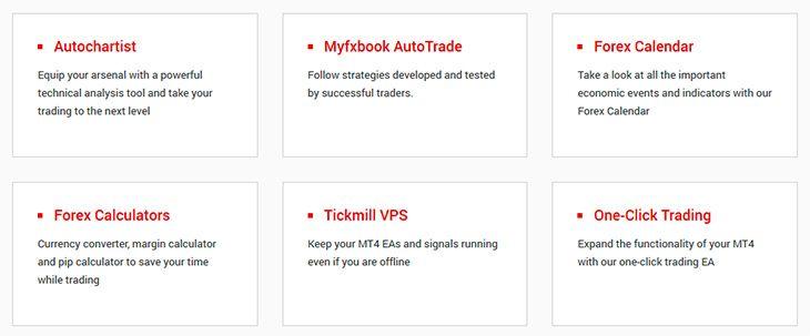 Tickmill trading tools